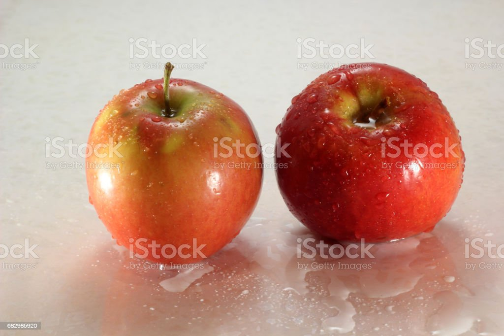 Wet apples royalty-free stock photo