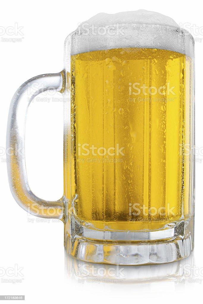 Wet Beer Mug Two royalty-free stock photo