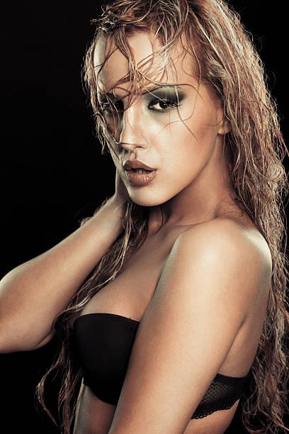 Wet blonden Schönheit – Foto
