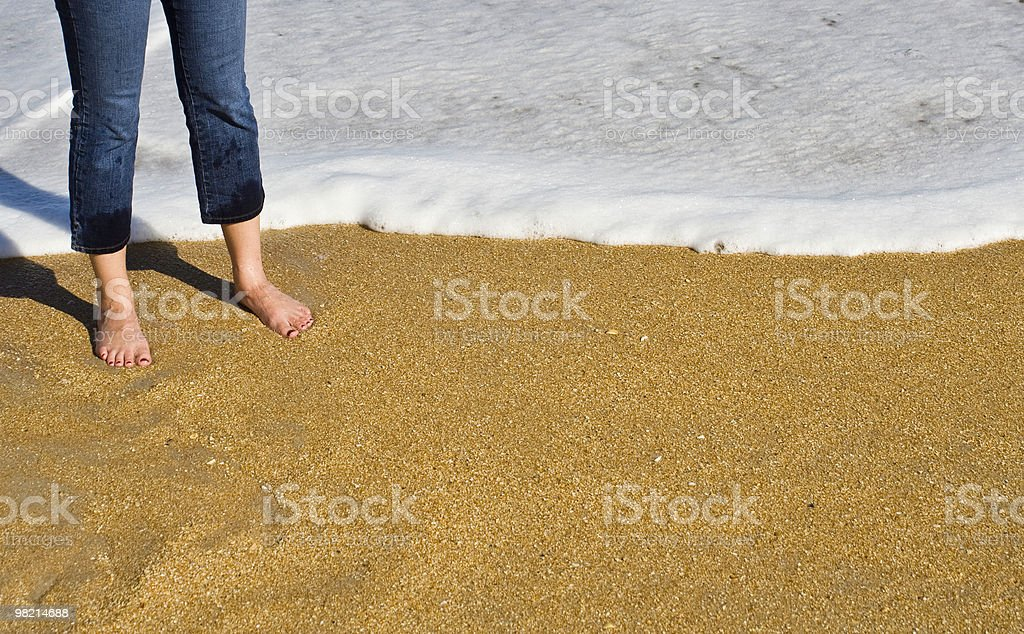 Wet Blue Jeans royalty-free stock photo