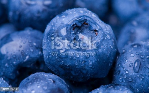 Closeup shot of Blueberries. Macro photo.