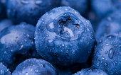 Closeup shot of Blueberries. Macro photo.