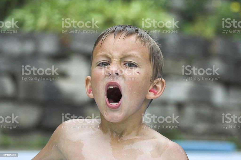Wet Boy stock photo
