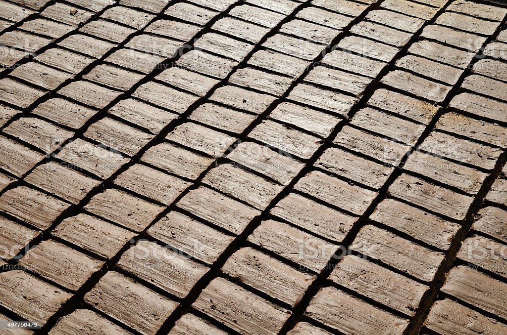 Wet bricks royalty-free stock photo