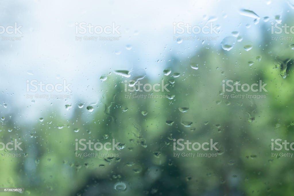 wet car glass rain storm outside photo libre de droits