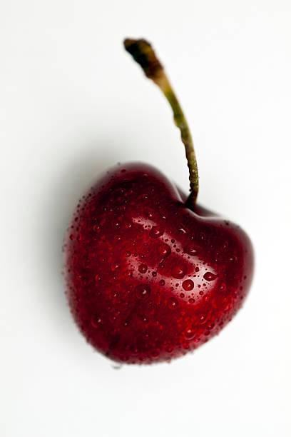 wet cherry stock photo