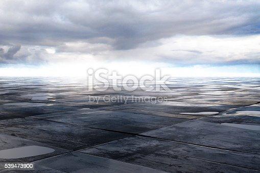 istock wet concrete floor 539473900
