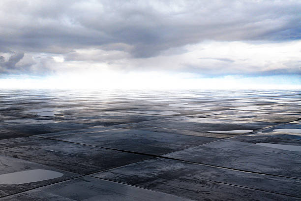 wet concrete floor - islak stok fotoğraflar ve resimler
