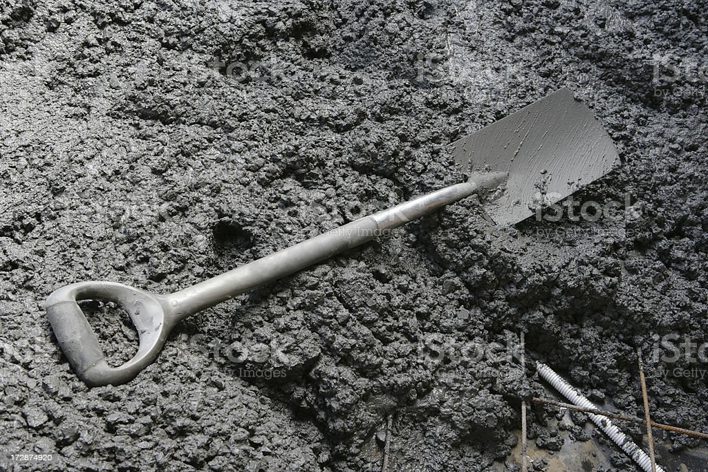 Wet Concrete royalty-free stock photo