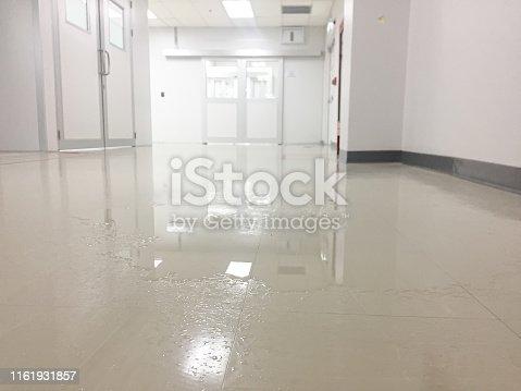 Wet, corridor , floor, factory,water,slip, flip ,fall