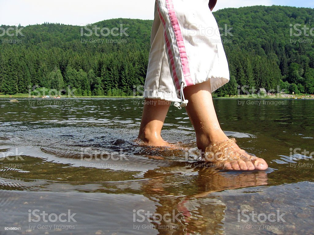 Wet feet royalty-free stock photo