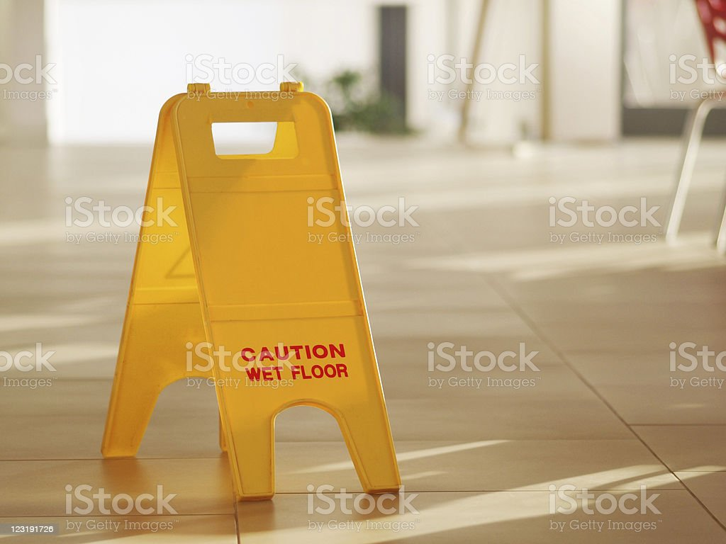 Wet Floor royalty-free stock photo