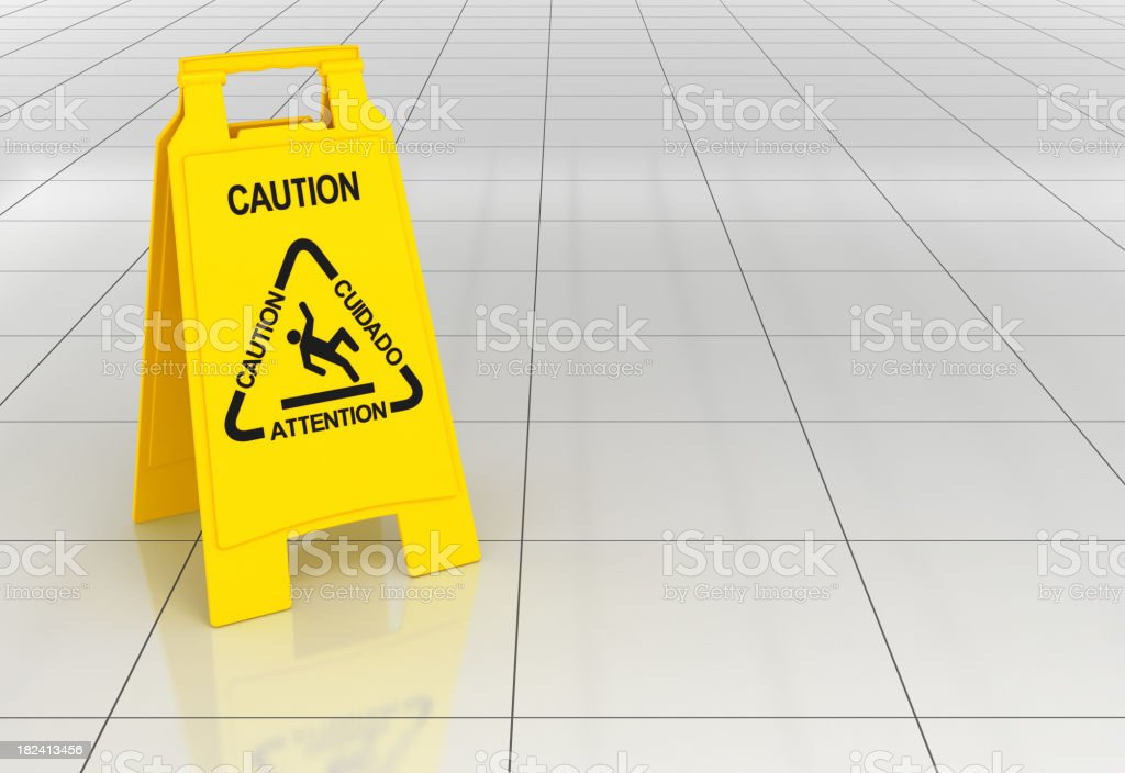 Wet Floor stock photo