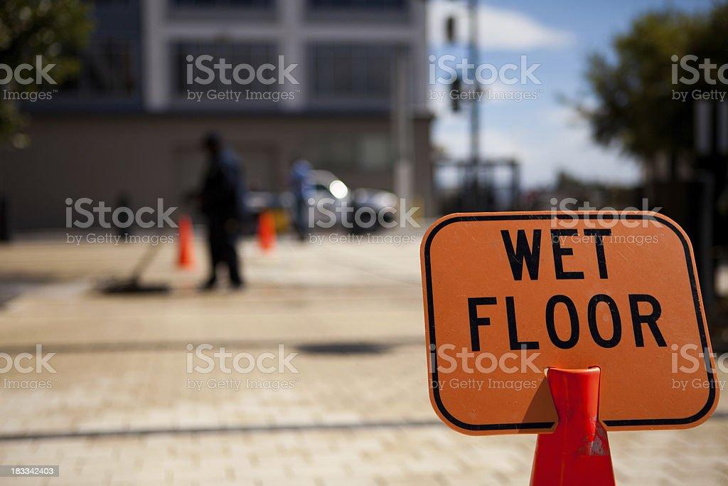 Wet Floor royalty-free stock photo