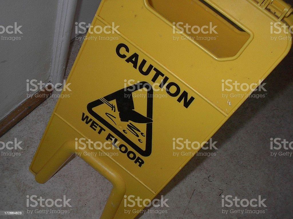 wet floor sign royalty-free stock photo