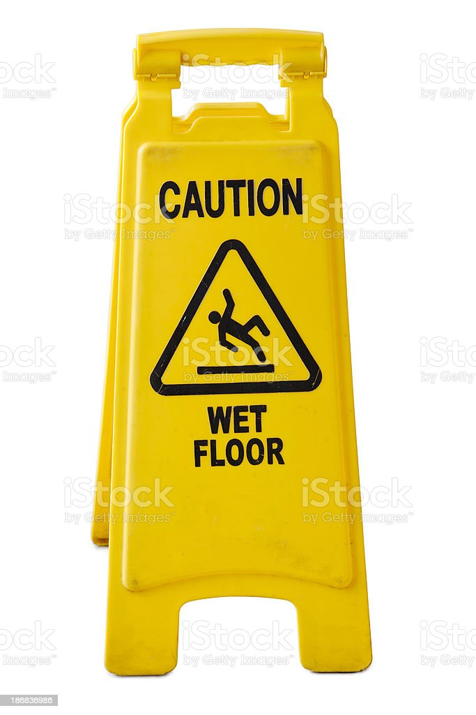 Wet floor sign royalty-free stock photo