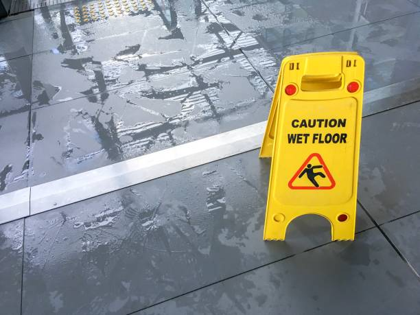 wet floor sign - wet stock pictures, royalty-free photos & images