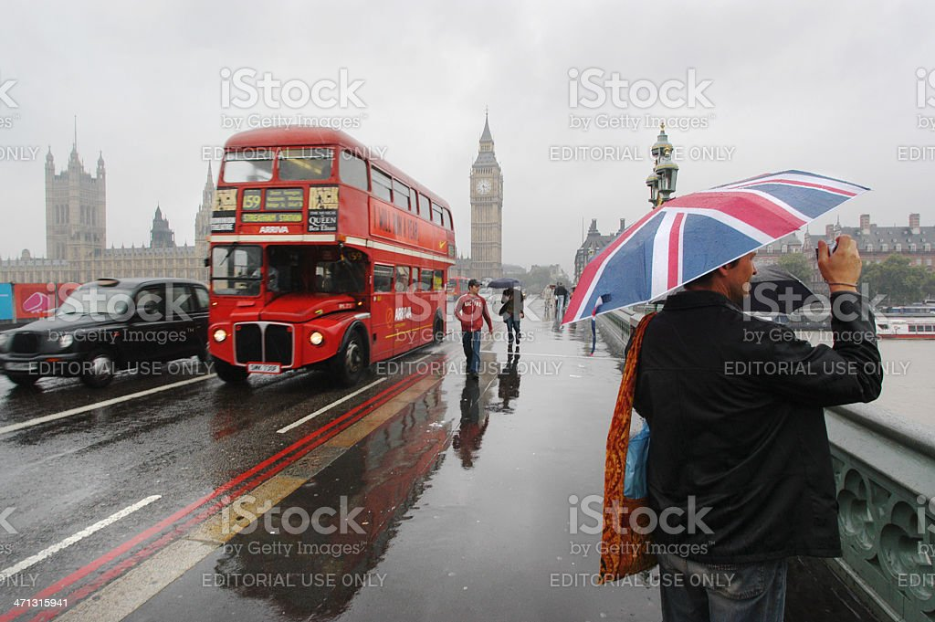 Wet Foggy London stock photo