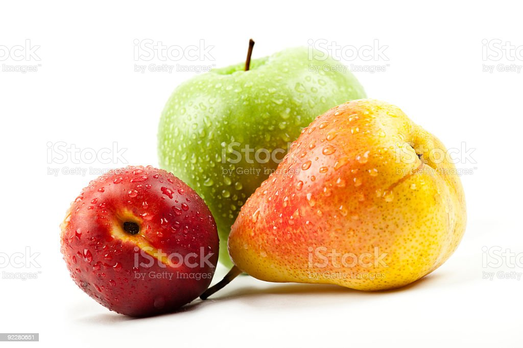 wet fruits stock photo