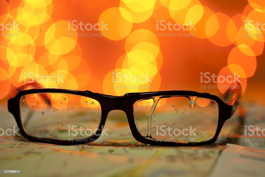 wet glasses royalty-free stock photo