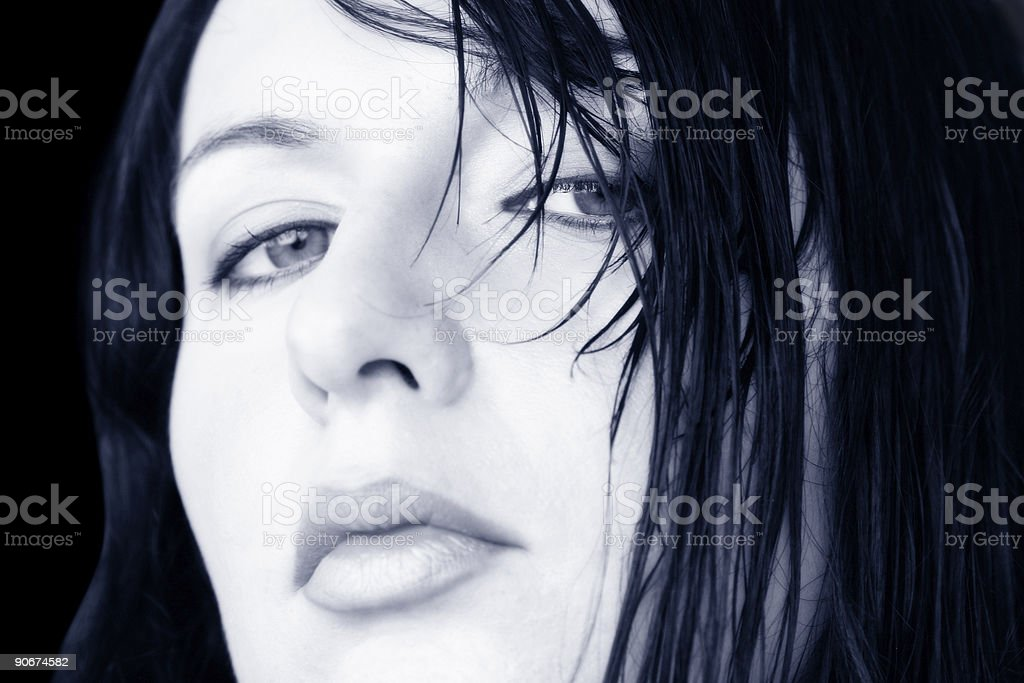 Wet Hair Woman royalty-free stock photo