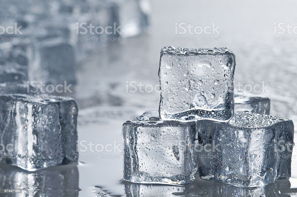 Wet ice cubes objects  royalty-free stock photo