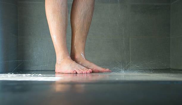 Wet pernas de - foto de acervo