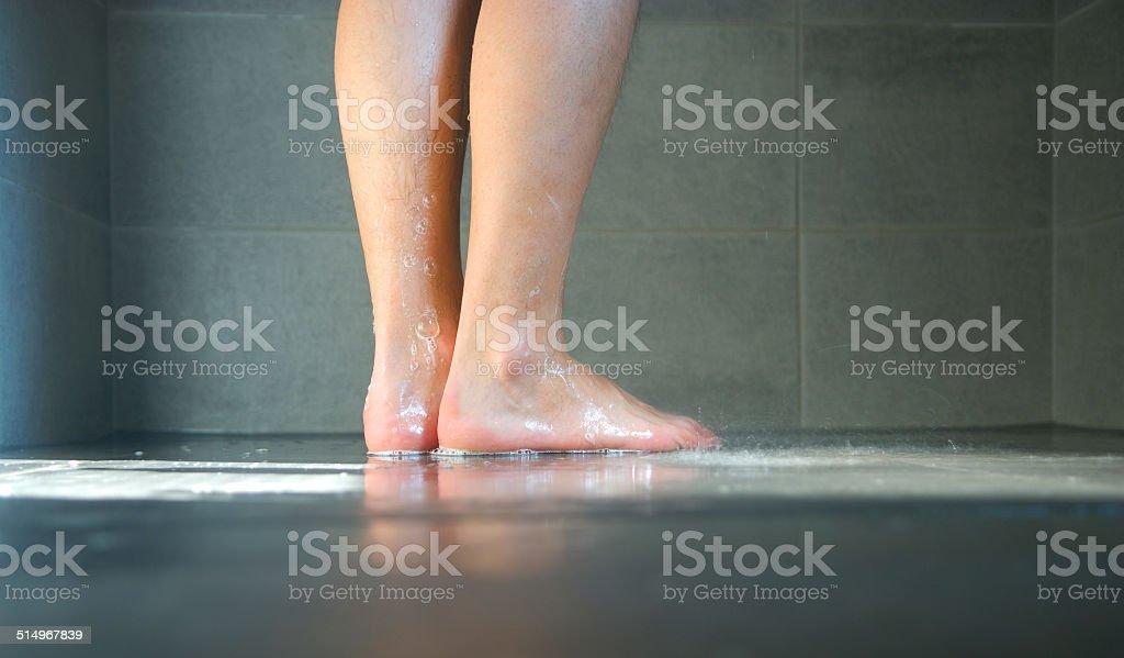 Wet legs stock photo