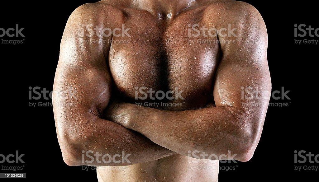Hombre cuerpo con fregadero - Foto de stock de Actividad libre de derechos