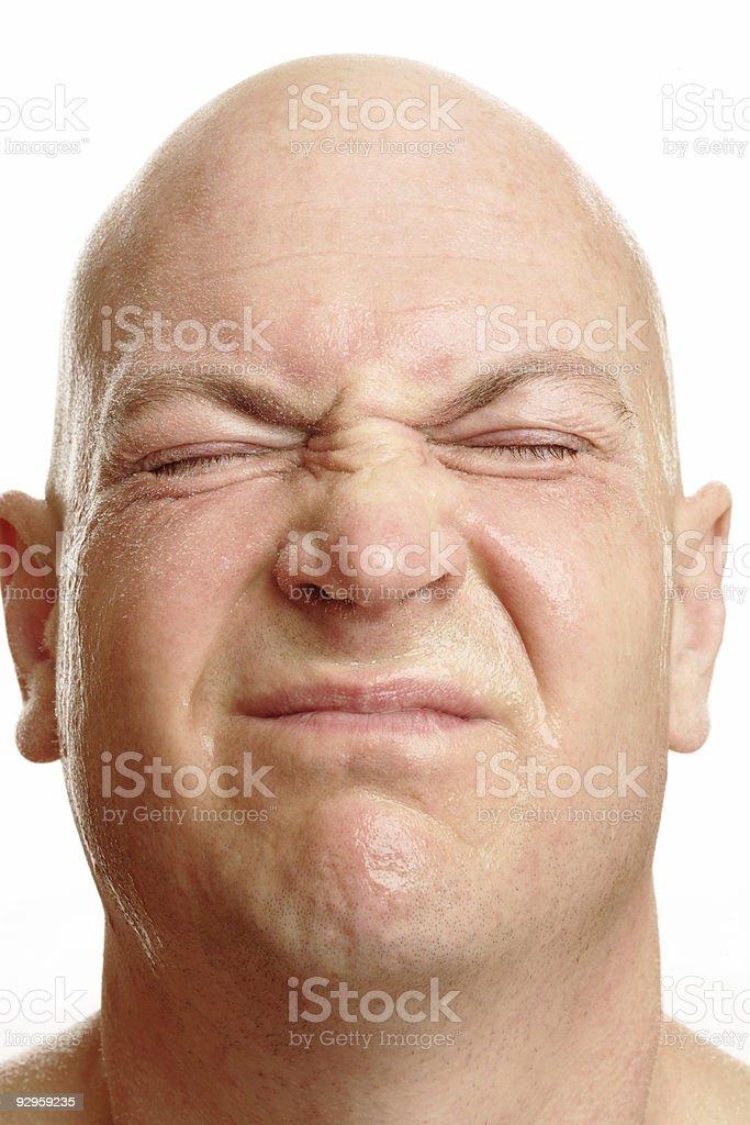 Wet Man Face royalty-free stock photo