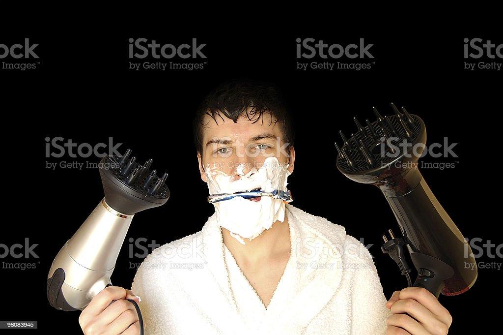 wet man royalty-free stock photo