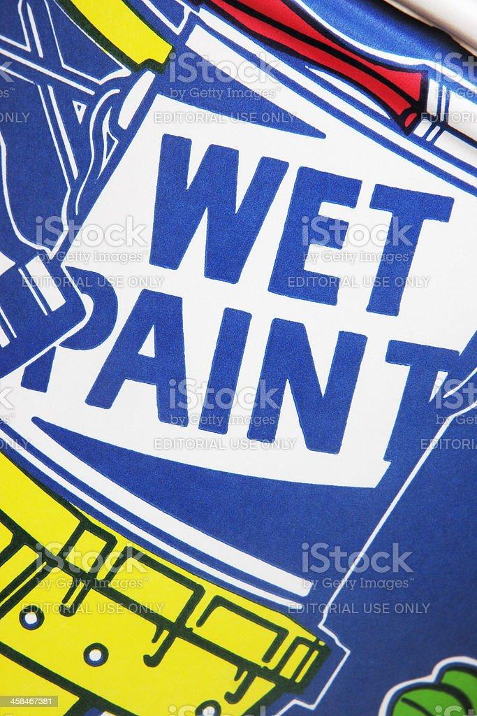 Wet Paint Poster Construction Site Stock Photo & More