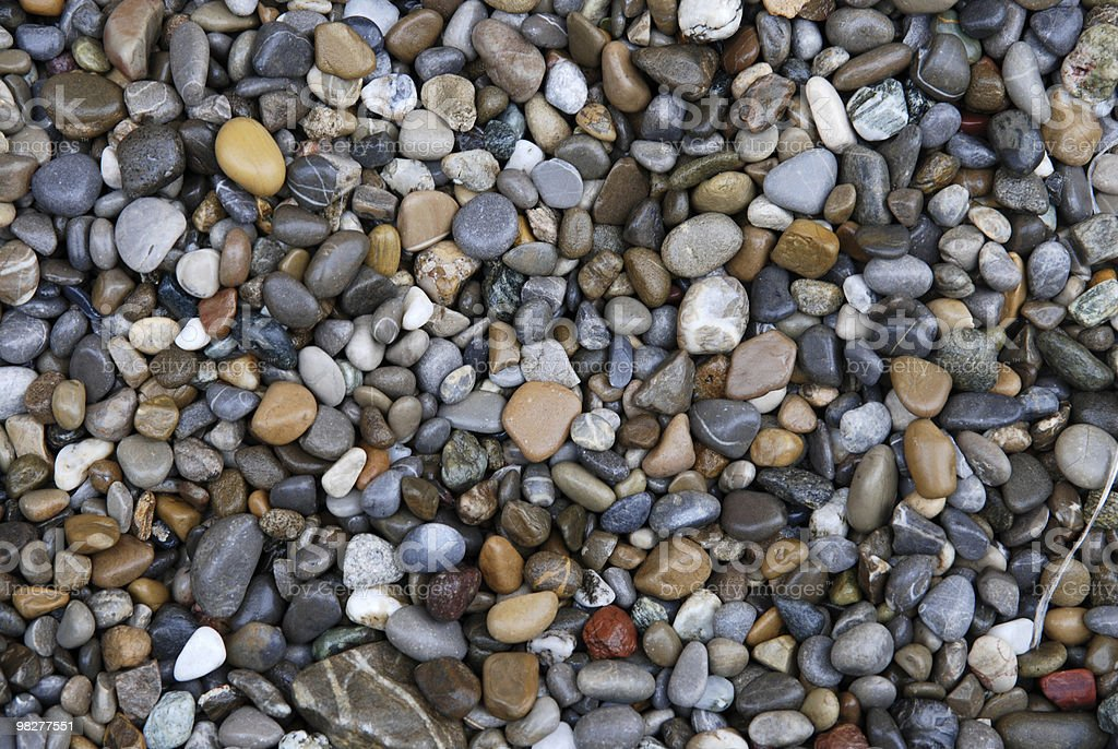 wet pebbles royalty-free stock photo