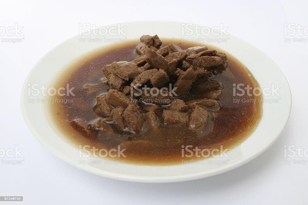 Wet Pet food 2 - Beef Flavor stock photo