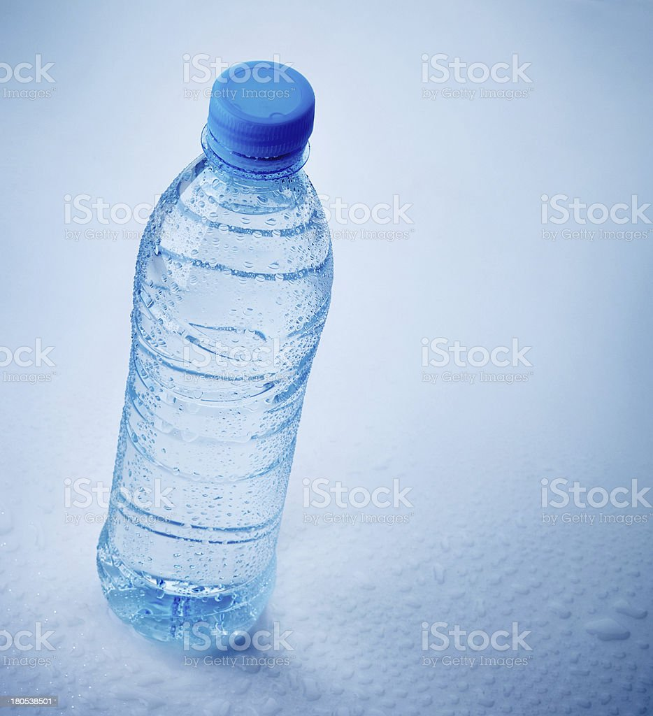 wet plastic bottle of water royalty-free stock photo