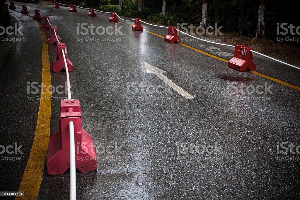 Wet Road stock photo