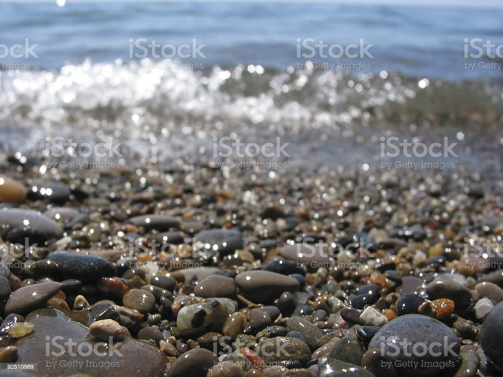 Wet rocks royalty-free stock photo