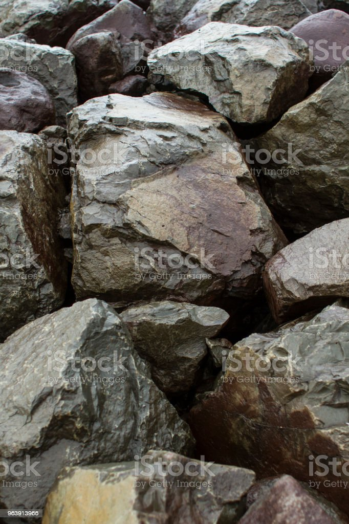 Wet Rocks stock photo