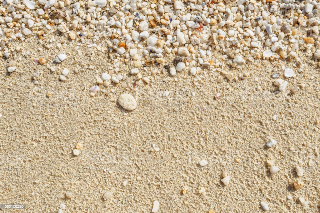 Wet sand and pebble texture. stock photo