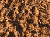 Wet sand background. Sandy beach texture