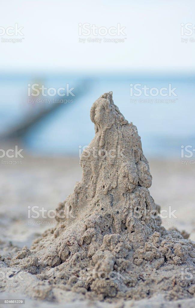 wet sand macro heap stock photo