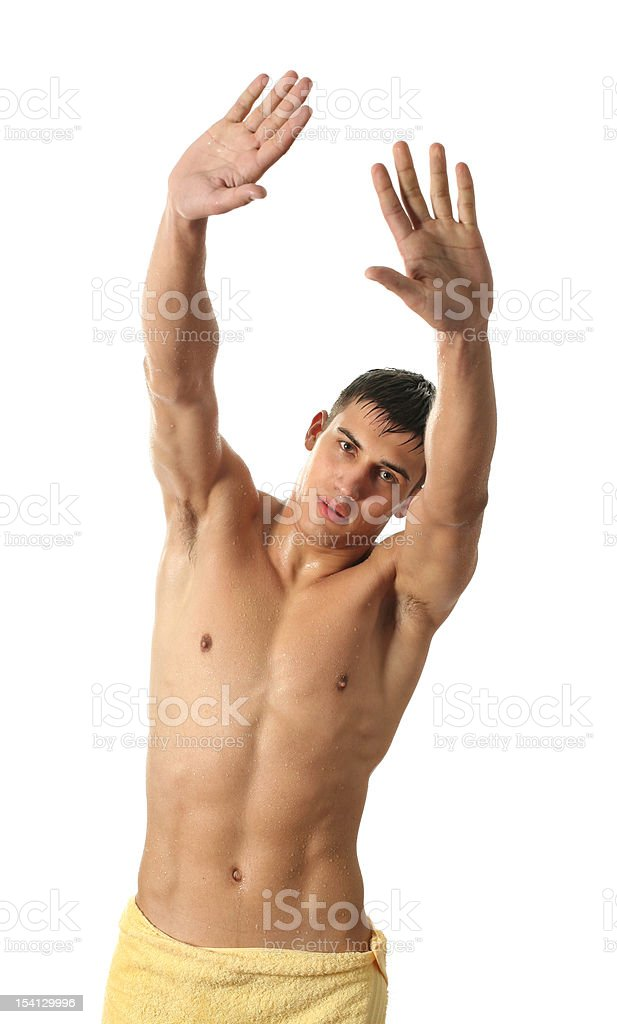Wet Sexy Man royalty-free stock photo