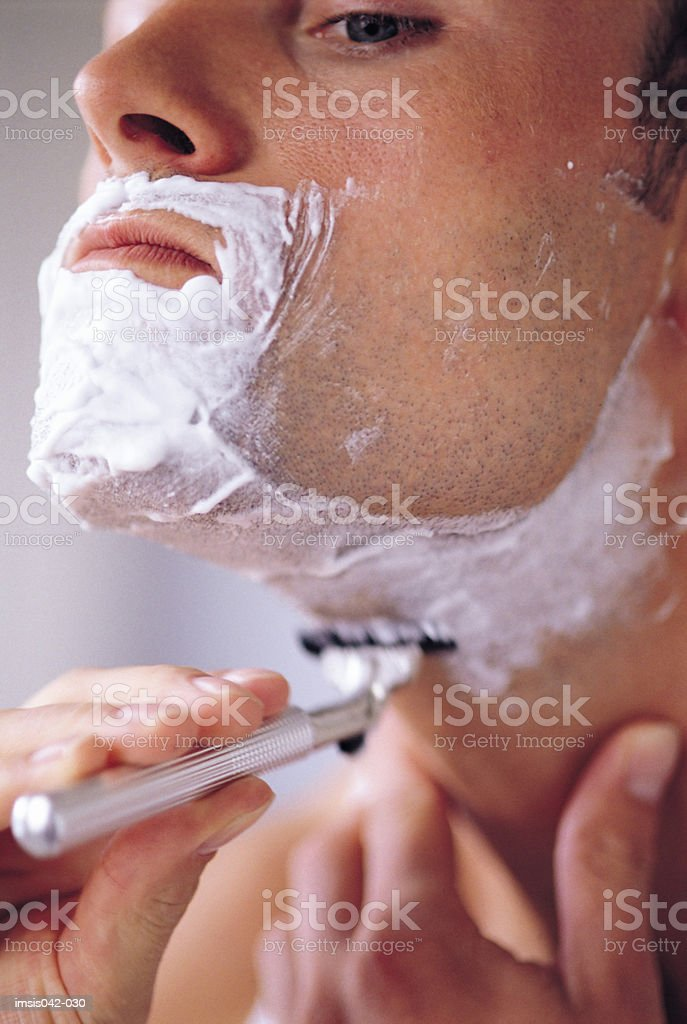 Wet shave royalty-free stock photo
