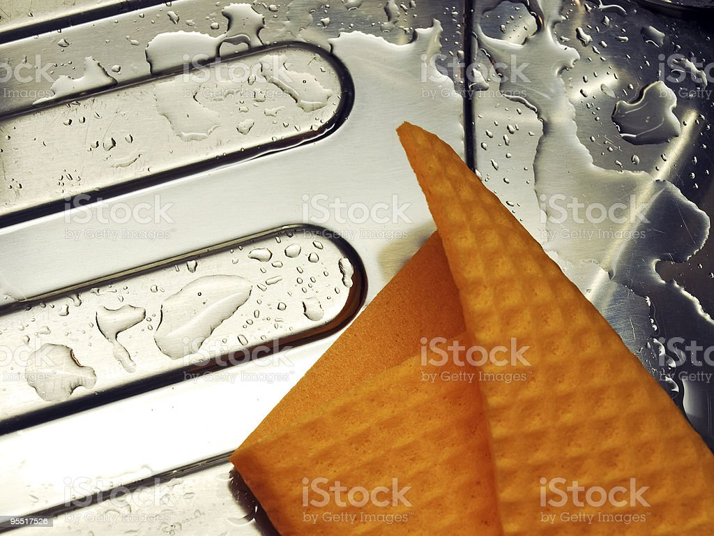 Wet sink and mop royalty-free stock photo