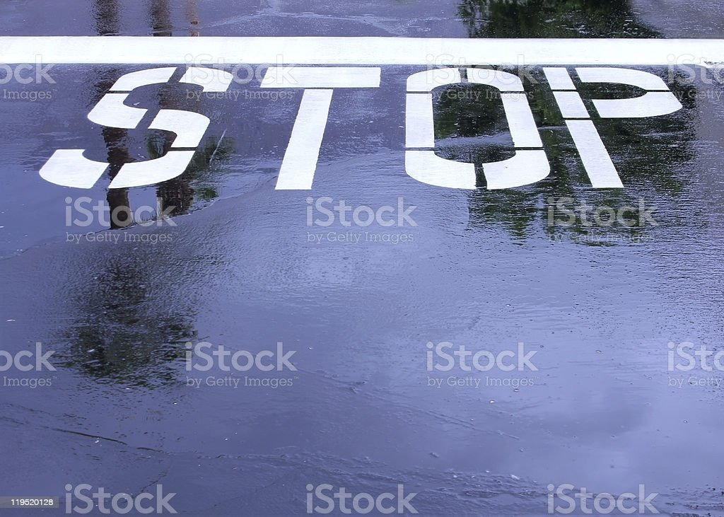 Wet Stop stock photo