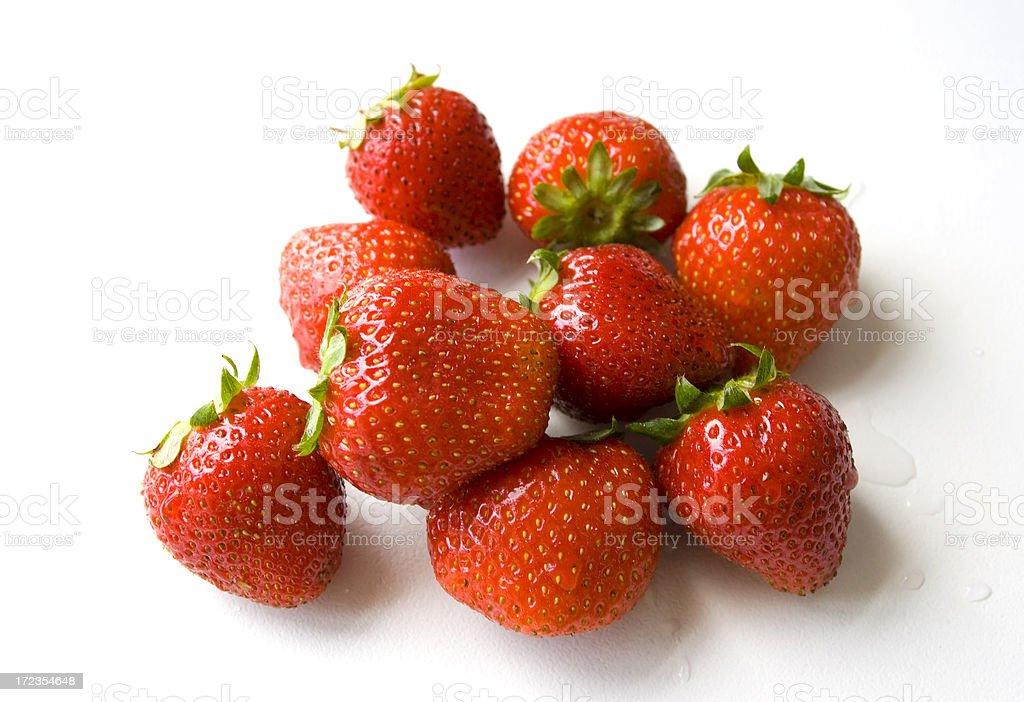 Fresas con fregadero foto de stock libre de derechos