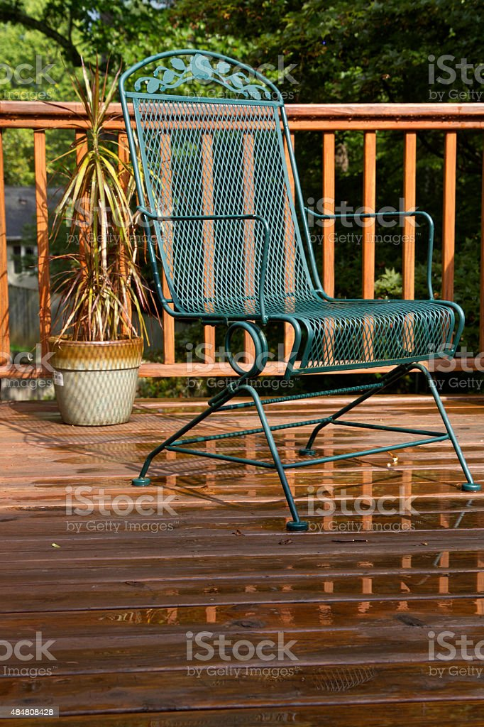 Wet Summer Deck stock photo
