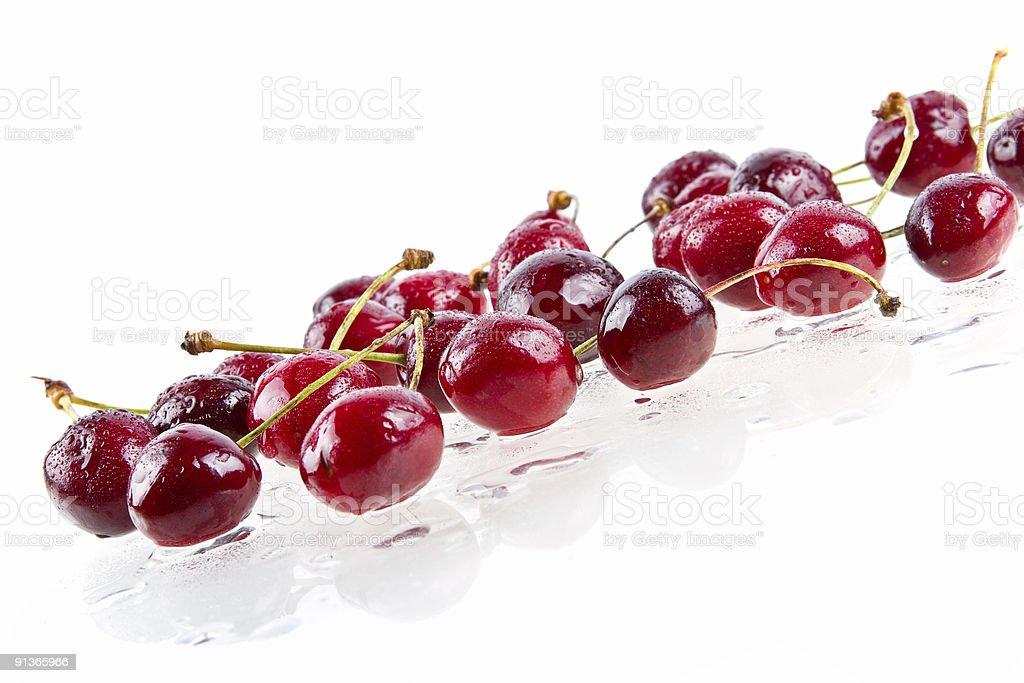 Wet sweet cherry royalty-free stock photo