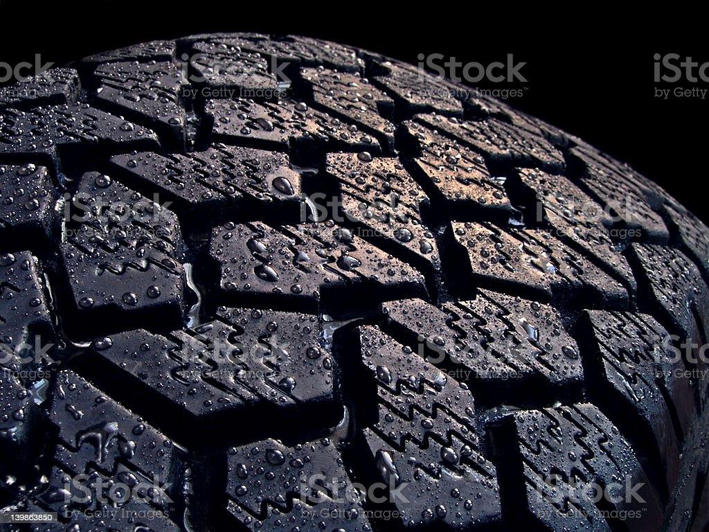 wet tire royalty-free stock photo