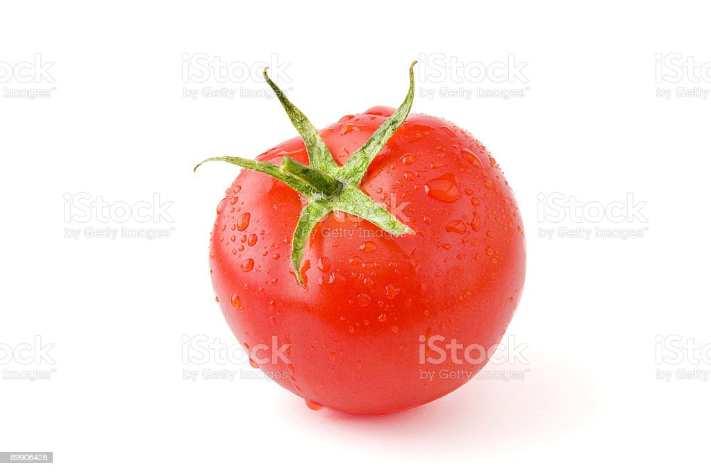 Wet tomato royalty-free stock photo